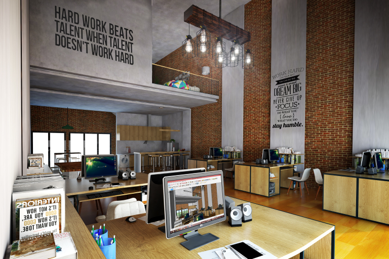 kantor ala Industrial Modern